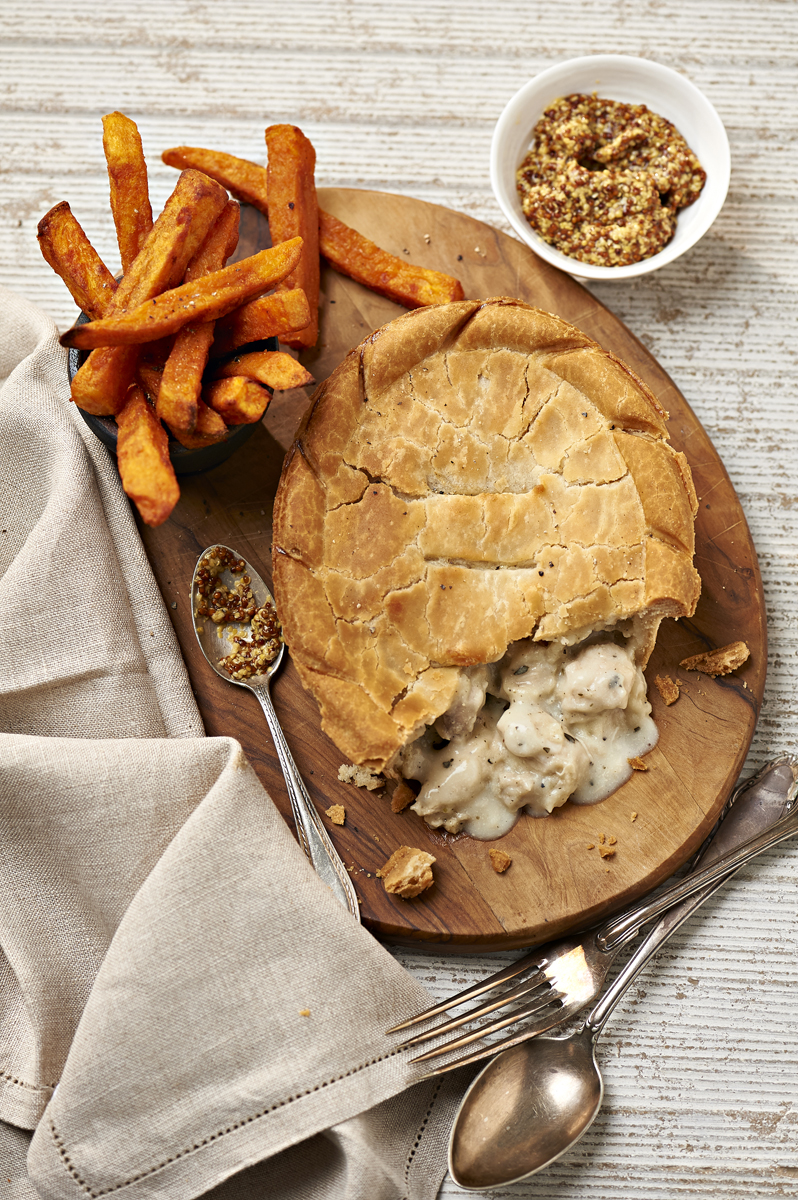 Creamy chicken pie for Samworthy brothers AGM